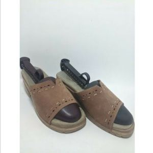 White Mountain Made In Italy Brown Suede Women's